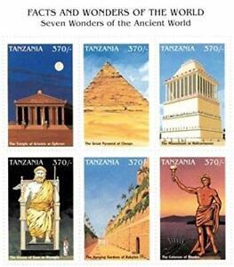 VINTAGE CLASSICS - Tanzania 9742 Ancient World Wonders - Set Of 6 Stamps - MNH