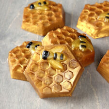 Bee Honey Soap Mold 6 Holes Chocolate Candy Mould Craft Resin Molds Cake Tool