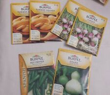 Lot of 7  Clearance SALE Assorted Burpee Vegetable Seeds Packed in 2016 USA