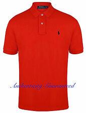 0e070b54c1f Ralph Lauren Polo Shirt Mens Classic Fit Black Navy Red or White 100  Genuine Red Medium