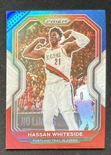 2020-21 Prizm Basketball Hassan Whiteside #158 Red White Blue Prizm Blazers