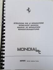 FERRARI MONDIAL T WORKSHOP MANUAL REPRINTED