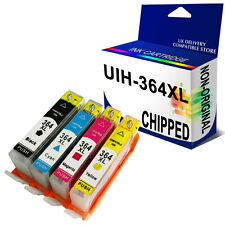 4 Non-OEM CHIPPED Ink Catridges for use in HP 364XL HP364