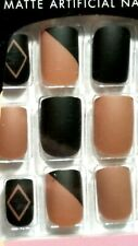"""L.A. Colors GLUE- ON NAILS 24 SHORT LENGTH SQUARE TIPS  *NAILS MATTE-R*  """"NEW"""""""