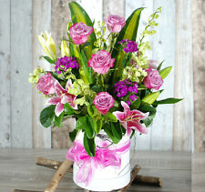 Fresh Flowers Delivery Sydney - Stylish and Classic Hatbox- Mother's Day Flowers
