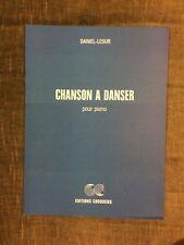 Daniel-Lesur Chanson à danser pour piano score partition éditions Choudens