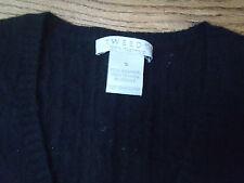Tweeds Black V-Neck Cashmere Sweater    size  S