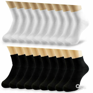 Lot 6-12 Pairs Mens Womens Ankle Athletic Socks Cotton Low Cut Casual Size 9-13