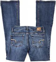 American Eagle Artist Super Stretch Womens Jeans Flare Tag 0 Reg Actual Sz 26x32