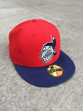 NEW Era 59 FIFTY MLB Cleveland Indians UFFICIALE montato Cap-Rosso/Blu Taglia 7