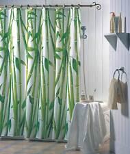 Duschvorhang Textil Bambus Badewannenvorhang Wannenvorhang 180 x 200