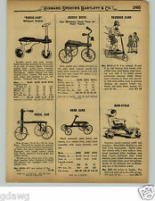 1929 PAPER AD Sidewalk Skudder Kar Row Cycle Irish Mail Car Scooter