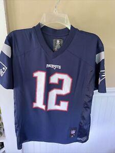 NEW! Tom Brady #12 N. E. Patriots NFL Team Apparel Reebok Size Youth L 14/16