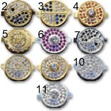 Crystal Diamond Gold Silver Solid Metal Home Button Iphone 3G 3GS 4 and 4S