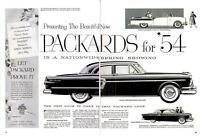 1954 Packard PRINT AD Packard Clipper Patrician