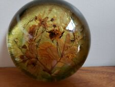 Antique Glass Floral Display Paper Weight.