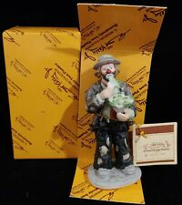 Nib Flambro Emmett Kelly Jr. Eating Cabbage Limited Figurine Ceramic Clown
