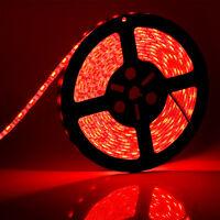 Flexible 16.4ft 5M 300leds 5050 SMD LED Strip Light IP65 Waterproof – Color: Red