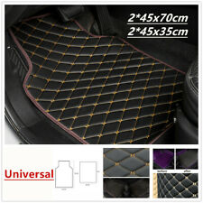 Leather Car Floor Mats Quilted Universal  Design Waterproof Liners Set Synthetic