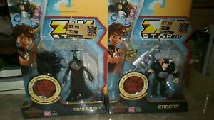 2 New Zak Storm 3 Inch Figures - Crogar & Skullivar Free Shipping