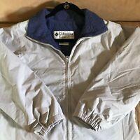 Columbia Women's Core Interchange Jacket Grey Blue Fleece Lining Full Zip Size S