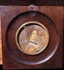 Gorgeous, Miniature Portrait of Woman (XIX)