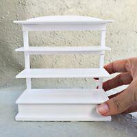 Dollhouse Miniatures White Cabinet Showcase Wooden Wood Food Bakery Decor Supply
