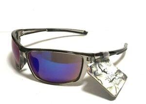 NEW PANAMA JACK Sunglasses Clear Gray Frames BLUE MIRROR Lenses Sport MEN