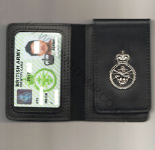 More details for british army mod90 id identity card leather wallet holder military uk raf navy