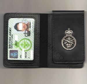 British Army MOD90 ID Identity Card Leather Wallet Holder Military UK RAF NAVY