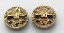 VINTAGE/VICTORIAN 14K YELLOW GOLD BUTTON STYLE CUFF LINKS