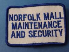 SIMCOE NORFOLK MALL MAINTENANCE SECURITY PATCH VINTAGE EMPLOYEE ONTARIO