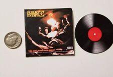 Miniature 1/6 record album  Rap Rapper  Hip Hop action figure Public Enemy