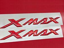 Coppia Adesivi Resinati Sticker 3D XMAX X MAX New Red Metallic