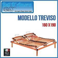 RETE A DOGHE IN LEGNO MANUALE160X190 MATRIMONIALE IN FAGGIO NATURALE  ORTOPEDICA