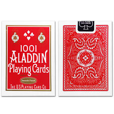 1 Deck of 1001 Aladdin Smooth Finish (RED) Playing Cards Collectible Poker Deck