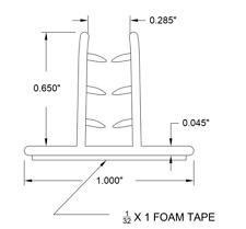 "12 pcs of 3""x1"" Grip Holders for Plexiglass, Acrylic, Plastic, Sign, Desk Shield"