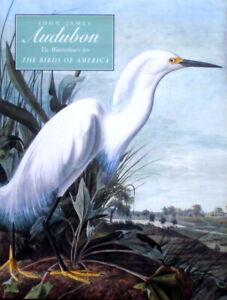John James Audubon: Watercolours for the  Birds of America - Massive volume
