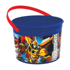 Transformers Optimus Prime Birthday Party Plastic Treat Favor Bucket Container