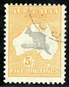 AUSTRALIA Kangaroo High Value SG135 5s (1932) ROO Superb CDS Used c£25+ CBLUE126