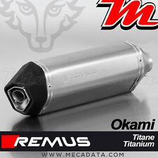 Silencieux Pot échappement Remus Okami titane Suzuki SV 650 - 2016