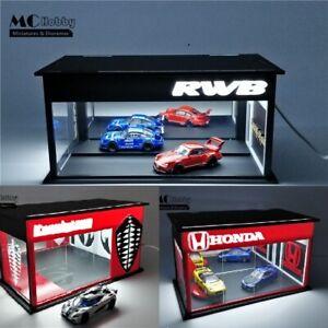 MC Hobby 1:64 Led Light Diorama Car Showrooms Honda RWB Koenigsegg