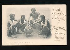 South Africa ETHNIC Zulu Boys Mid-Day Meal - Mealie Pap used c1900s PPC