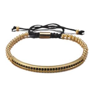 4pcs/Set Titanium Steel Roman Numeral Bracelet Horseshoe Buckle Bangles Handmade