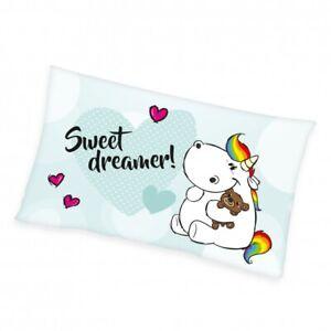 Pummeleinhorn Soft-Velboa Kissen mit Inlett