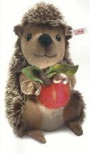 """Steiff """"Sigi The Hedgehog"""" Ean 037092 Brown Tipped Mohair And Alpaca -Felt Apple"""