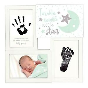 3 Multi Picture Photo Frame With Ink Pad For Newborn Baby Hand & Foot Print