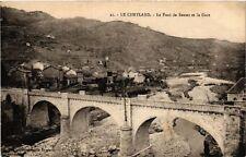 CPA  Le Cheylard - Le Pont de Sauzet et la Gare  (484875)