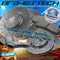 F+R Cross Drilled Rotors & Ceramic Pads for 2011-2018 GMC Sierra 2500HD
