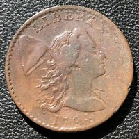 1794 Large Cent Liberty Cap Flowing Hair One Cent Higher Grade Rare #15414
